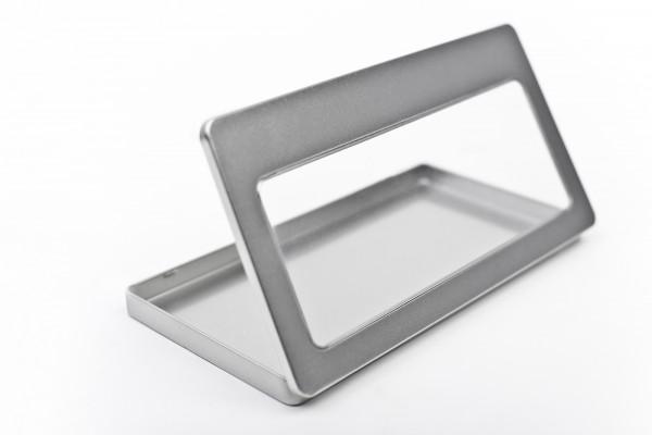 DIN Lang Metalldose mit Sichtfenster