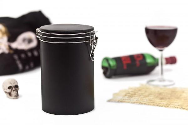 Runde Kaffeedose 500g schwarz