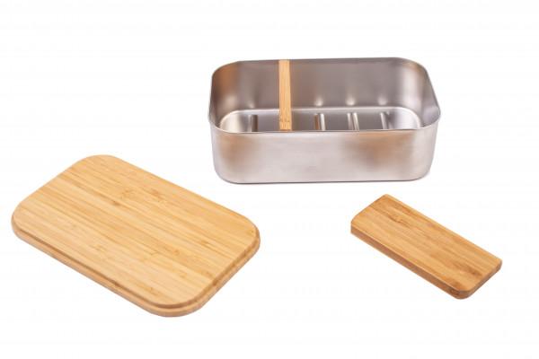 Trennwand aus Bambus für Premium Edelstahl Lunchbox