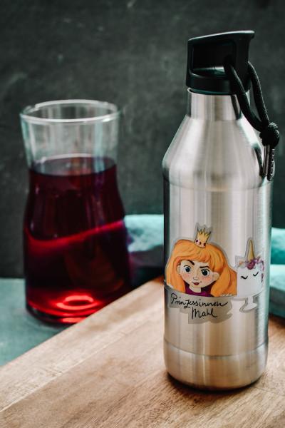 """Trinkflasche """"Prinzessin Blond"""" - Edelstahl, doppelwandig"""